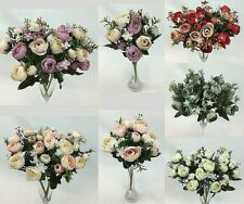3 x Artificial Flower Small Flowers Bunch/Wedding Bouquet/Home/Party Decor