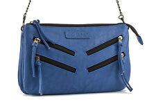 GG Rose by Rock Rebel Venice Cross Body Handbag with Zippers Royal Blue