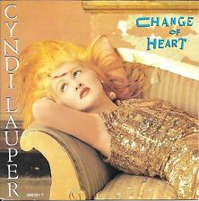 "45 TOURS / 7"" SINGLE--CYNDI LAUPER--CHANCE OF HEART / WITNESS--1986"