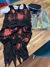 Zombie Policeman Costume Mens Police Halloween Fancy Dress