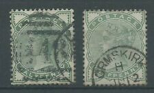 GB QV 1880 1/2d green (both shades) SG164/165 good used. (2770)