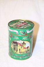 2005 green LAMBERTZ Sugar Cookies MUSICAL TIN Made in GERMANY Free Shipping