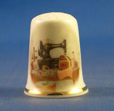 Birchcroft China Thimble -- Vintage Sewing Table -- Free Dome Gift Box
