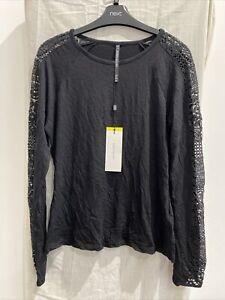KAREN MILLEN Black Long Sleeve T Shirt Size UK 12