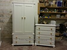 HAND MADE FLORIDA  IVORY CREAM 2 PIECE BEDROOM SET(ASSEMBLED)