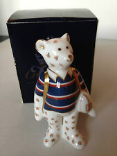 Royal Crown Derby Rugby Bear - Perfect Boxed