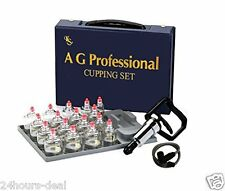 Acupuncture Professional Cupping Therapy Equipment Set Pumping Handle 17 Cups
