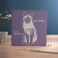 Happy Birthday Card - Purr-fect Day - Cat - Luxury