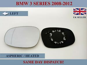 FITS BMW 3 SERIES 2008-12 WIDE ANGLE WING MIRROR GLASS ASPHERIC HEATED LEFT SIDE