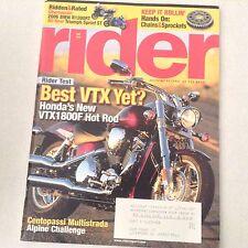 Rider Magazine Honda VTX1800F & Alpine Challenge May 2005 061017nonrh