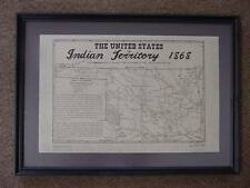 OKLAHOMA - INDIAN TERRITORY -1868 MAP + HISTORY NOTES