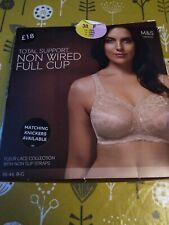 New M&S Total Support Bra Non Wired Full Cup 38 F Almond