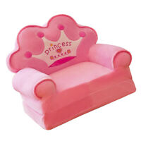 Crown Chair Seat for Children Cartoon Chairs Baby Mini Sofa Slipcover Pink
