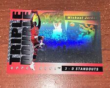 1993-94 Upper Deck Triple Double 3D Standouts Hologram Michael Jordan #TD2