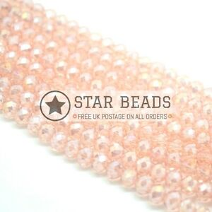 Faceted Cube Glass Beads For Jewellery Making 4mm,6mm,8mm,10mm Clear Lustre