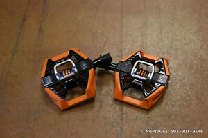 Crank Brothers Double Shot Pedals Clipless Aluminum Black and Orange