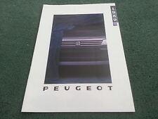 Oct 1988/1989 PEUGEOT COCHE GAMA FOLLETO página 48 Reino Unido 205 309 405 505 Inc Gti
