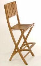 Balitique Teak Wide Back Folding Bar Chair