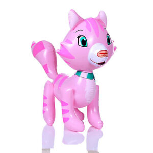 1Pc PVC inflatable animals cute cat inflatable toys party balloon kids toys L FT