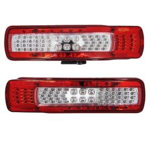 2x Led Rear Tail 24v Lights For Volvo Fm Fh Version Iv Euro 6 Aftermarket Lamps