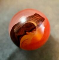 Lovely Akro Agate Carnelian Oxblood Shooter Marble Mint .75