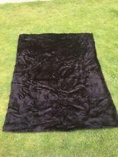 "Black faux fur material fabric 73"" X 56""  Craft Making"