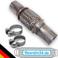 Flexrohr flexibles Auspuffrohr 65x100/215mm ohne schweißen inkl Schellen