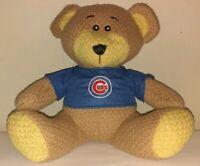 "MLB Chicago Cubs Baseball Soft Plush Teddy Bear W/Cubs Blue Shirt 10"" Tall"