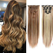 CLEARANCE Clip In 100% Real Remy Human Hair Extensions Full Head Natural
