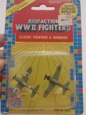 Fun Rise Micro Action WWII Fighters & Bombers 1989 Item 10008 NIP O