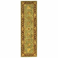 Antiquity Hand-Tufted GREEN / BROWN Wool Rug 2' 3 x 12' Runner