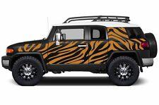 Custom Vinyl Decal Safari Wrap Kit for Toyota FJ Cruiser 2007-2014 Bright Orange