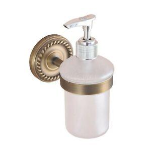 Kitchen Bathroom Accessory Antique Brass Porcelain Soap Dispenser
