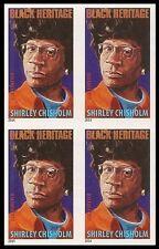 US 4856a Black Heritage Shirley Chisholm imperf NDC block MNH 2014