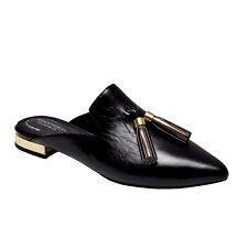 ROCKPORT Adelyn leather tassel  mule flats 8