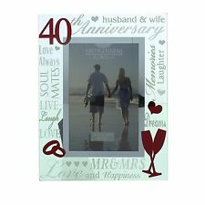 Ruby 40th Wedding Anniversary Photo Frame Gift Juliana Collection