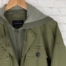 Men's Lucky Brand (S Oversize) Military Green Hood Panel Insert Field Jacket