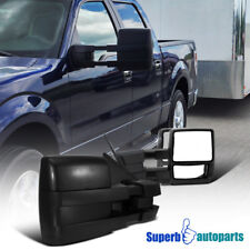 2004-2014 Ford F150 Pickup Towing Camper Manual Extend Mirrors Pair