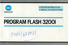 Minolta-Program Flash 3200i-MANUALE DI ISTRUZIONI-b2174