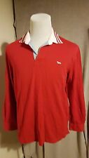 HARMONT & BLAINE Man's Long Sleeve Polo Shirt Size: L VERY GOOD Condition