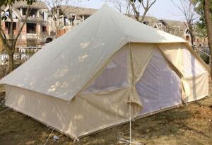 Outdoor Waterproof Large Camping Tent 13*16 ft Double Door Yurt Tent OxfordCloth