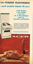 PUBLICITE  1966   ACER  cuisinière éléctrique