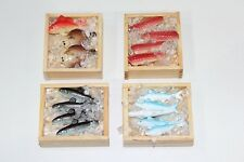 NEW Dolls House Accessories 4 x Crates with Fish on Ice 1/12th Scale FREE P&P