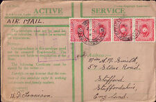 Egypt 5 Covers stamps 1928 - 1959 to UK Stafford Derby Edinburgh Haywards Heath
