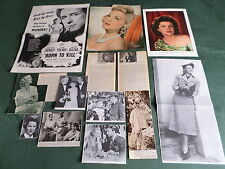 CLAIRE TREVOR - FILM STAR  - CLIPPINGS /CUTTINGS PACK