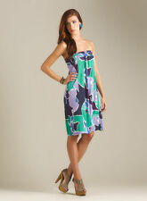 $148 French Connection Georgia Floral Jersey Strapless Tube Dress 0 or XSMALL XS