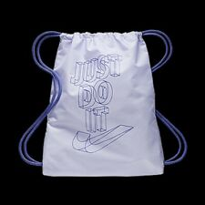 Nike Just Do it YA School Gym Sack Sac Kids Shoulder Drawstring Bag Lilac Purple