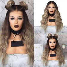 Femmes Cheveux Synthétiques Lace Front Wig Body Wave Full Perruque Très bien