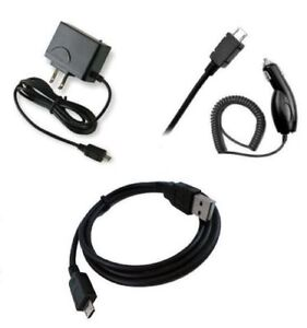 for Motorola Micro USB Devices Car+Home Charger + USB Data Cable Accessory Kit