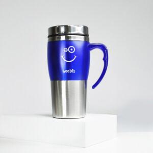 Insulated Thermal Double-Wall Travel Mug Coffee Tea 350ml 450ml Matt Hot & Cold